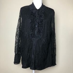 INC International Concepts Lace Button Up